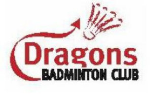 Dragons Juniors Badminton Club Logo, Open to Under 17's and run by qualified coaches